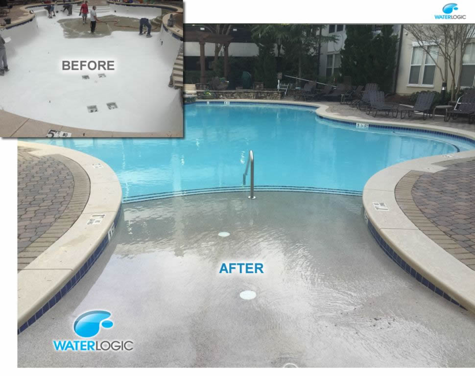 Pebble beach entry, White pool plaster, and new Coping texture! - Atlanta, GA