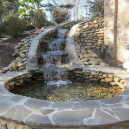Multi-tier cascading waterfall -- Braselton, GA