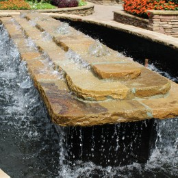 New fountain lining, masonry spillway and coping repair -- Atlanta, GA