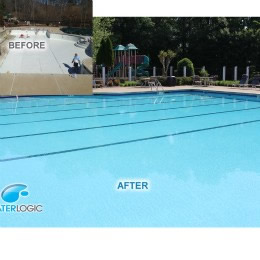 New plaster for this commercial pool in Woodstock